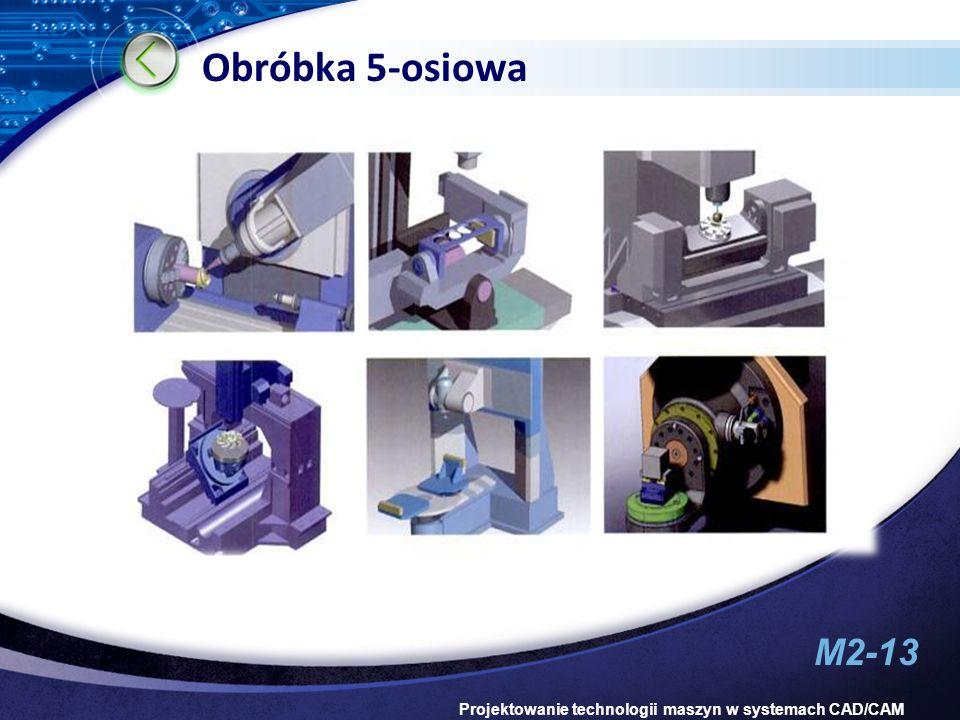 M2-13 Projektowanie technologii maszyn w systemach CAD/CAM Obróbka 5-osiowa