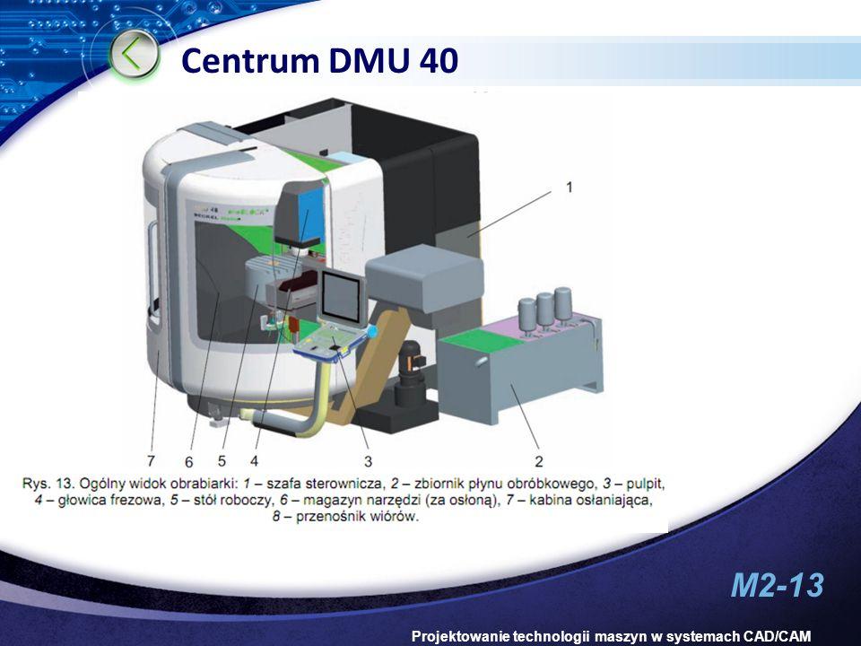 M2-13 Projektowanie technologii maszyn w systemach CAD/CAM Centrum DMU 40