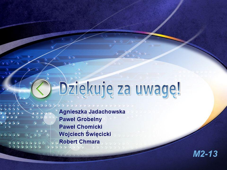 M2-13 Edit your company sloganEdit your company slogan Agnieszka Jadachowska Paweł Grobelny Paweł Chomicki Wojciech Święcicki Robert Chmara