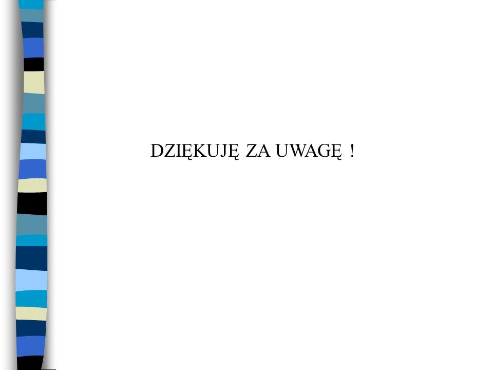 DZIĘKUJĘ ZA UWAGĘ !