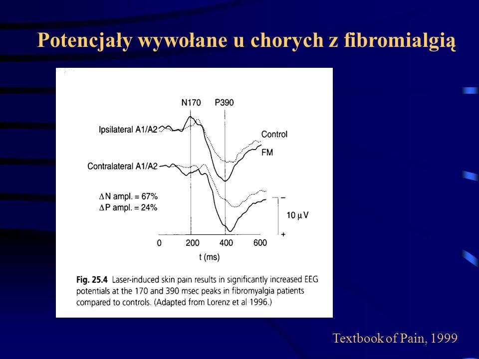 Potencjały wywołane u chorych z fibromialgią Textbook of Pain, 1999