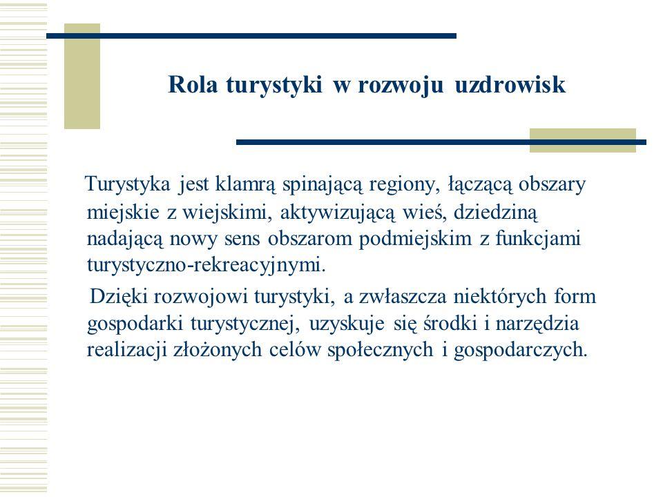 Rola turystyki w rozwoju uzdrowisk Polska posiada cenne bogactwa w postaci zasobów przyrodoleczniczych i uzdrowisk.