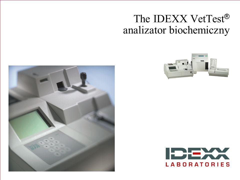 The IDEXX VetTest ® analizator biochemiczny