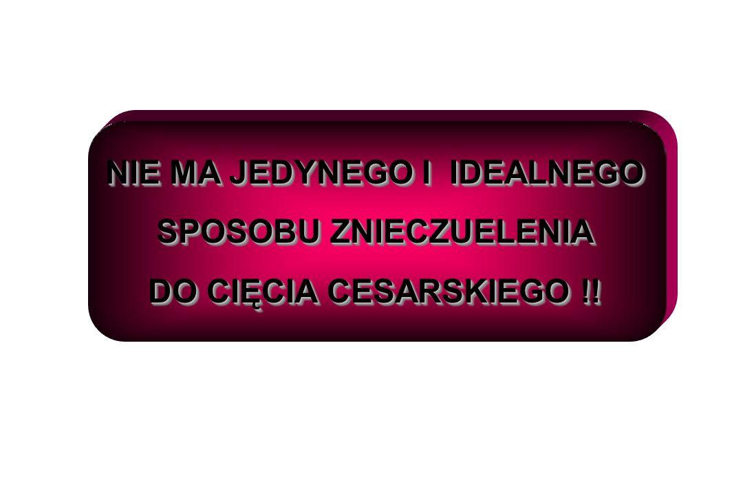 NIE MA JEDYNEGO I IDEALNEGO SPOSOBU ZNIECZUELENIA DO CIĘCIA CESARSKIEGO !.