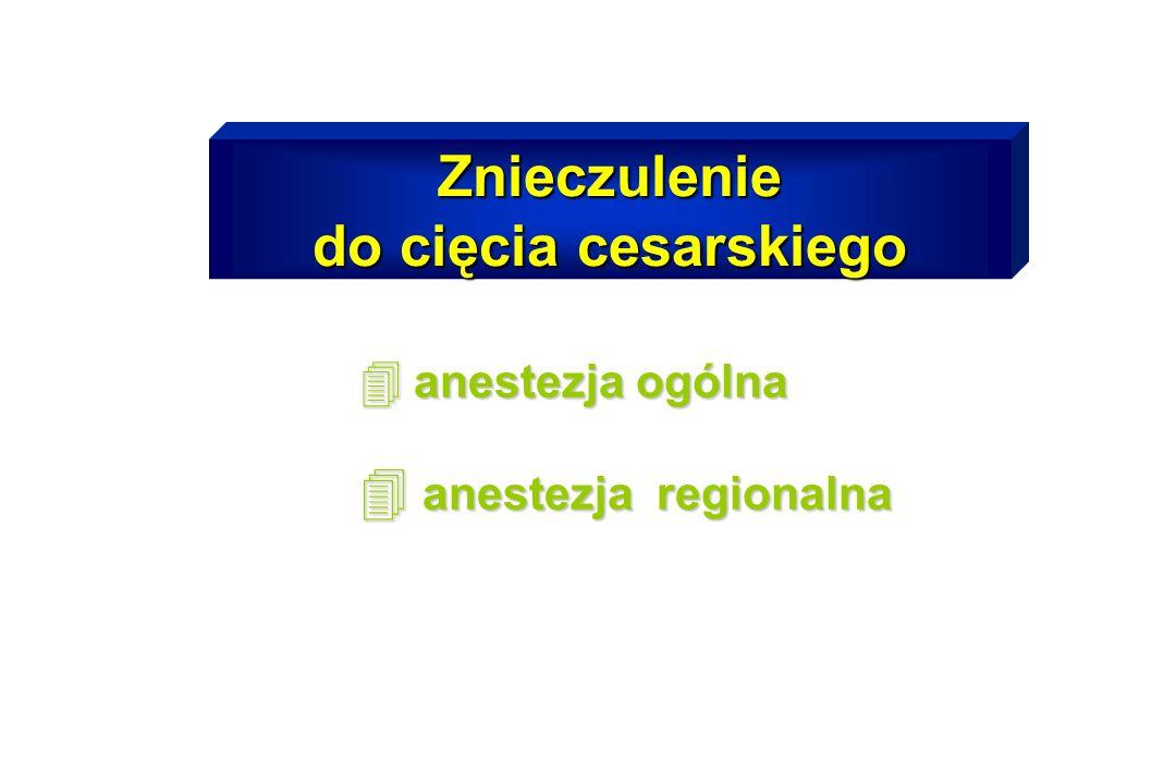Znieczulenie do cięcia cesarskiego 4 anestezja ogólna 4 anestezja regionalna