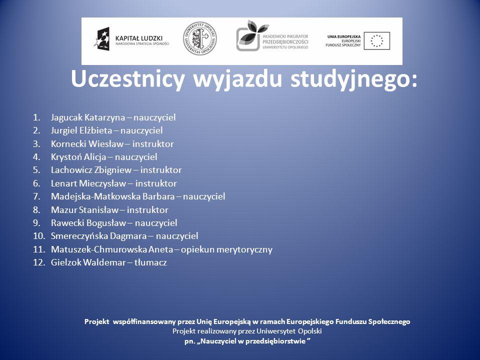 Program wizyty studyjnej 31.01.2010– niedziela O godz.