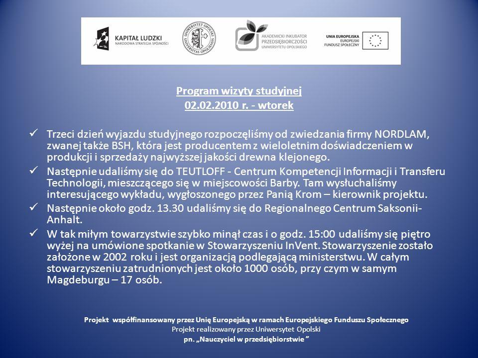 Nordlam Projekt współfinansowany przez Unię Europejską w ramach Europejskiego Funduszu Społecznego Projekt realizowany przez Uniwersytet Opolski pn.