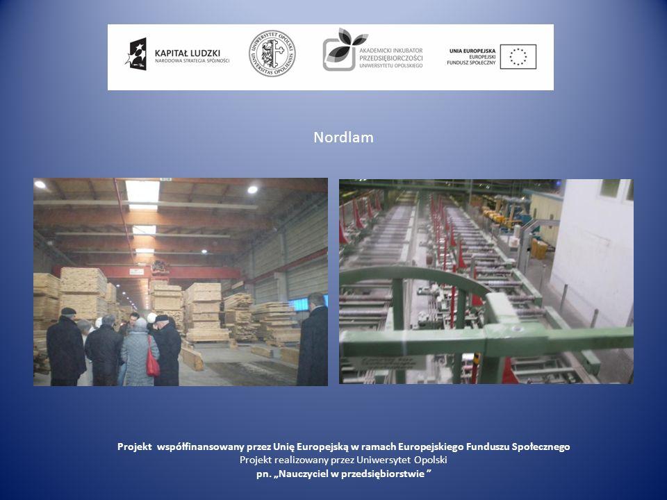 Nordlam Projekt współfinansowany przez Unię Europejską w ramach Europejskiego Funduszu Społecznego Projekt realizowany przez Uniwersytet Opolski pn. N