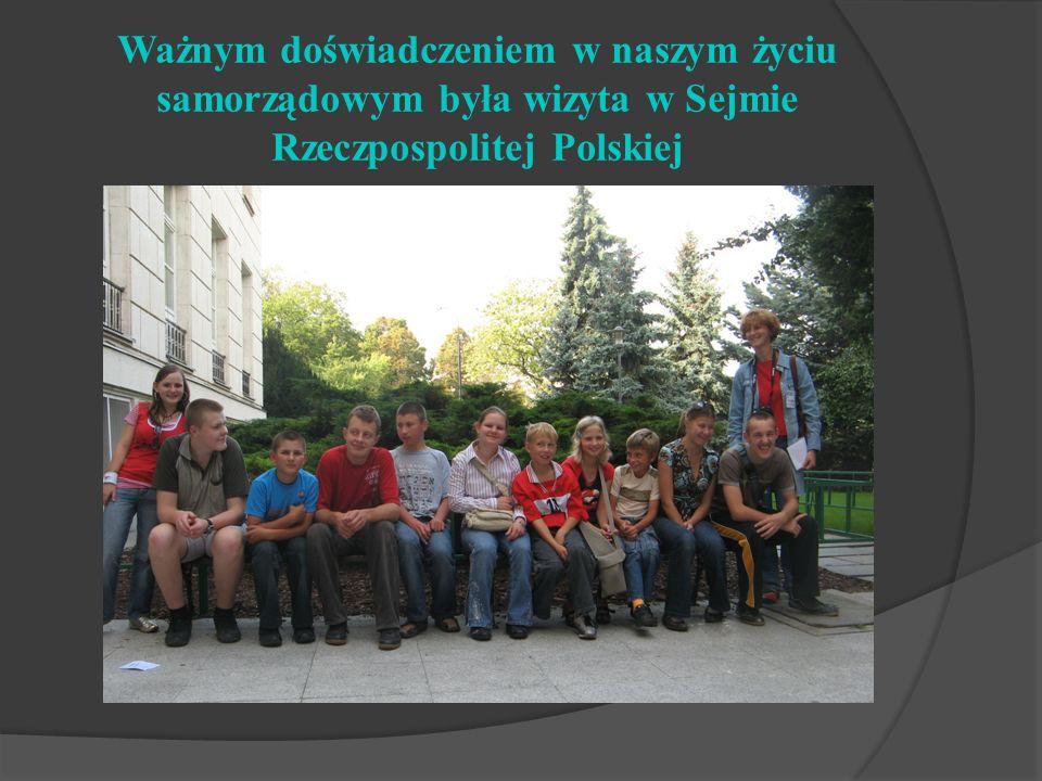 Ważnym doświadczeniem w naszym życiu samorządowym była wizyta w Sejmie Rzeczpospolitej Polskiej