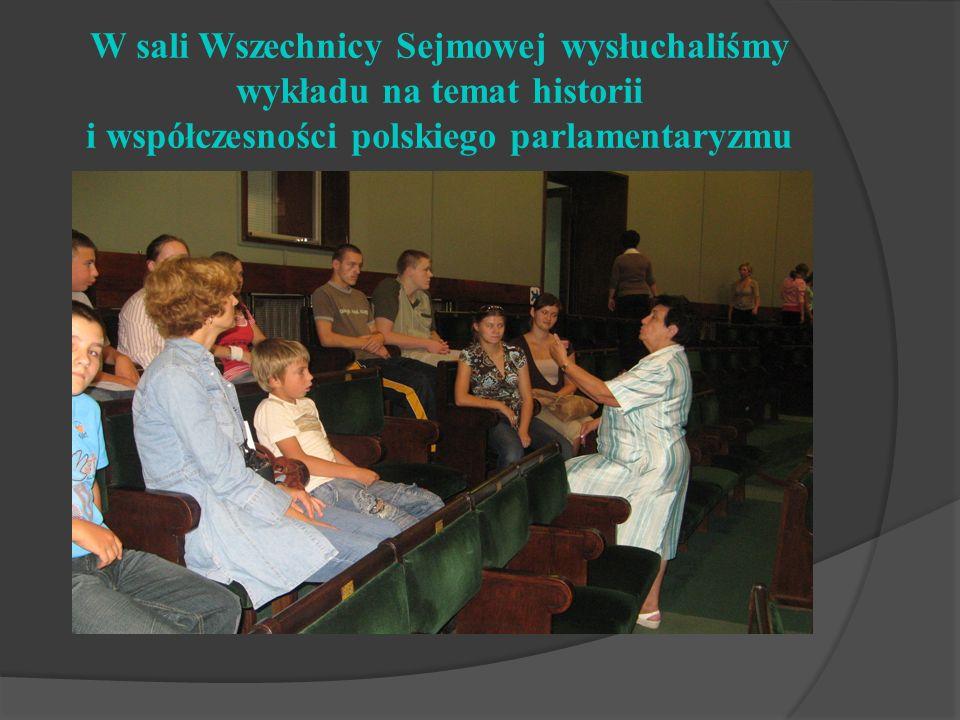 W sali Wszechnicy Sejmowej wysłuchaliśmy wykładu na temat historii i współczesności polskiego parlamentaryzmu