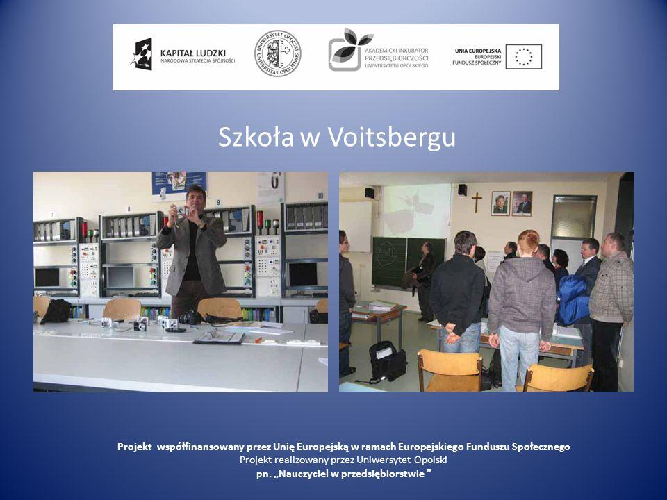 Ludowe Centrum Kształcenia Zawodowego Branży Metalowej Projekt współfinansowany przez Unię Europejską w ramach Europejskiego Funduszu Społecznego Projekt realizowany przez Uniwersytet Opolski pn.