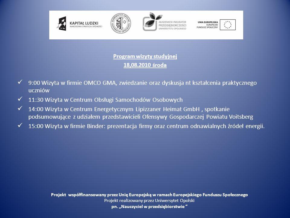 OMCO Projekt współfinansowany przez Unię Europejską w ramach Europejskiego Funduszu Społecznego Projekt realizowany przez Uniwersytet Opolski pn.