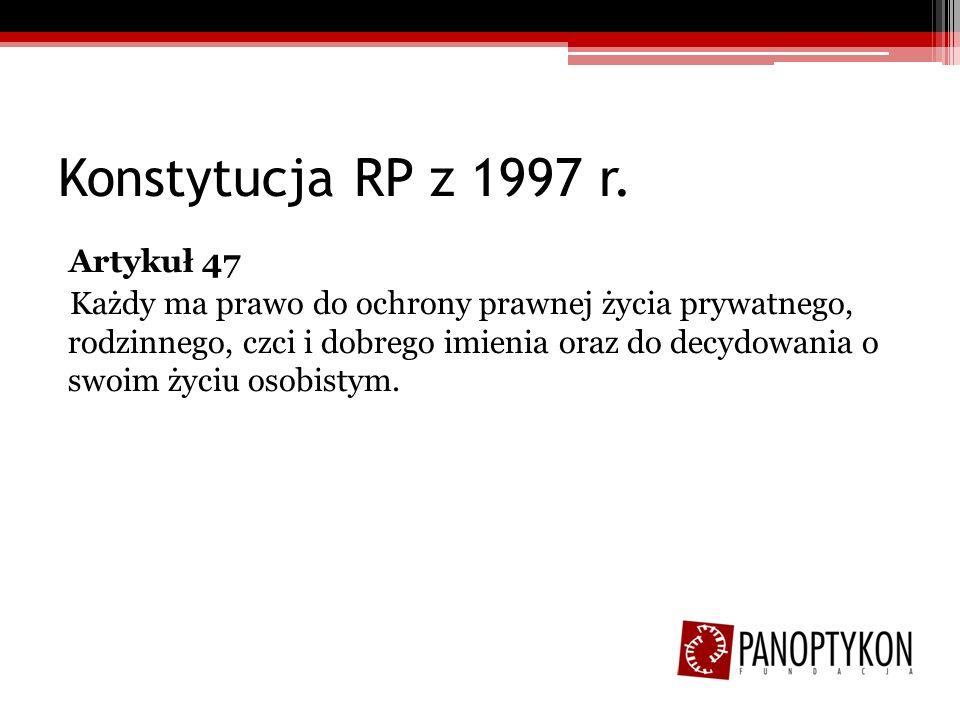 Konstytucja RP z 1997 r.Artykuł 48 1.