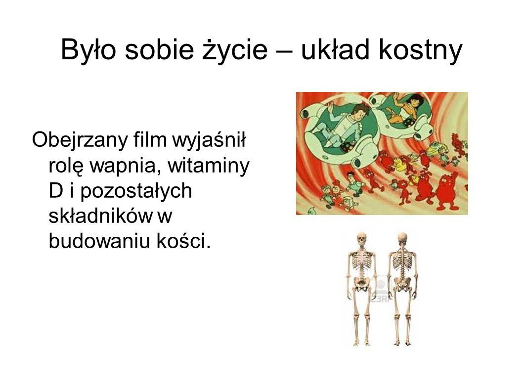 Było sobie życie – układ kostny Obejrzany film wyjaśnił rolę wapnia, witaminy D i pozostałych składników w budowaniu kości.
