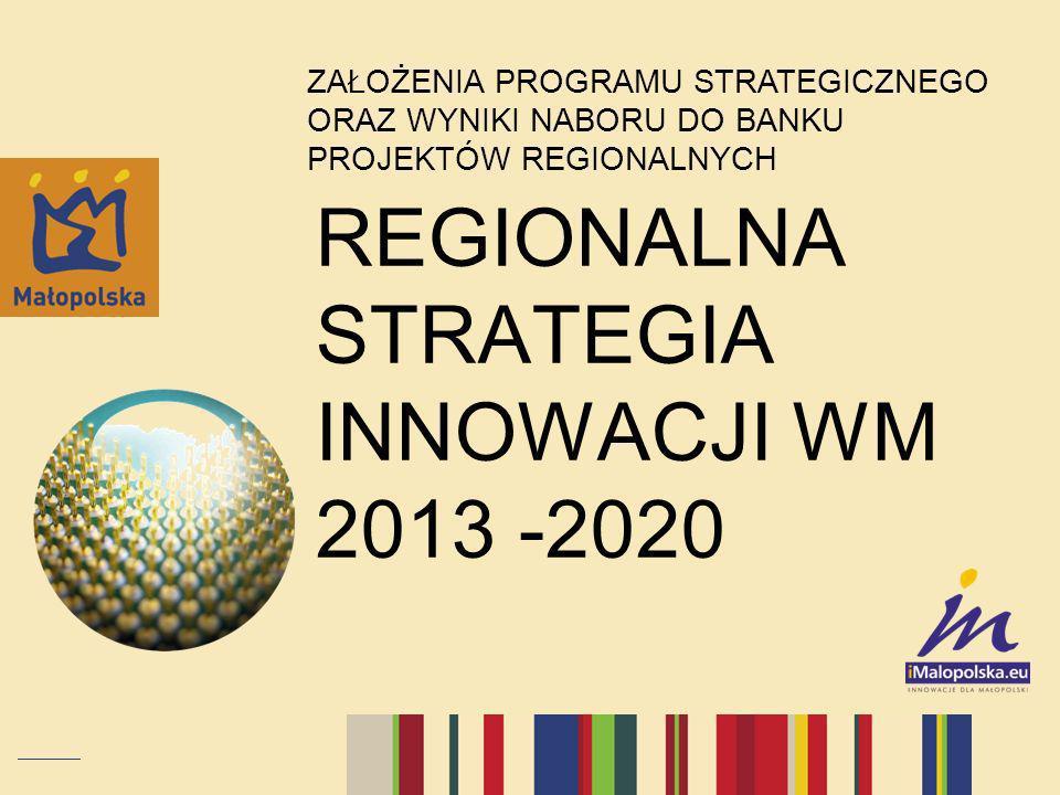 REGIONALNA STRATEGIA INNOWACJI WM 2013 -2020 ZAŁOŻENIA PROGRAMU STRATEGICZNEGO ORAZ WYNIKI NABORU DO BANKU PROJEKTÓW REGIONALNYCH