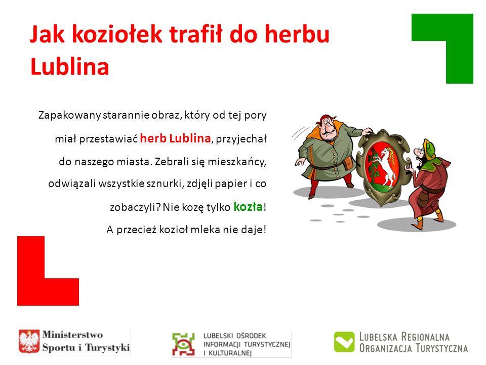 Jak koziołek trafił do herbu Lublina Zapakowany starannie obraz, który od tej pory miał przestawiać herb Lublina, przyjechał do naszego miasta. Zebral