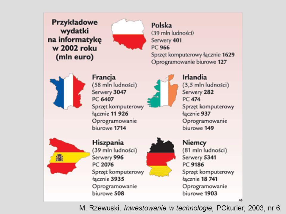 M. Rzewuski, Inwestowanie w technologie, PCkurier, 2003, nr 6