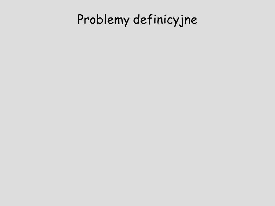 Problemy definicyjne