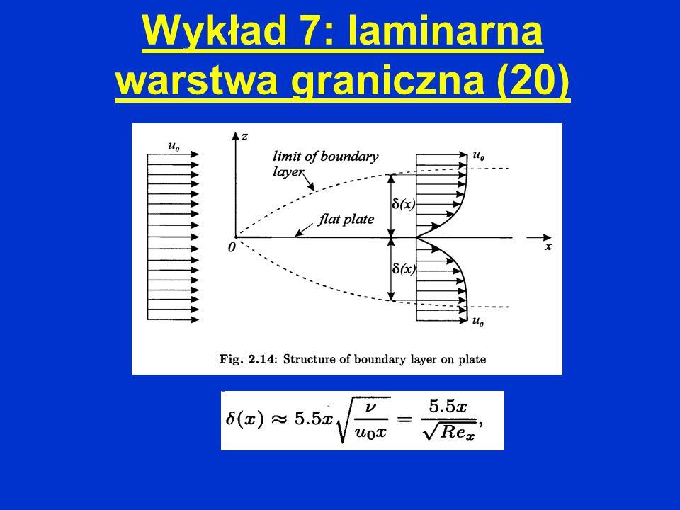 Wykład 7: laminarna warstwa graniczna (20)