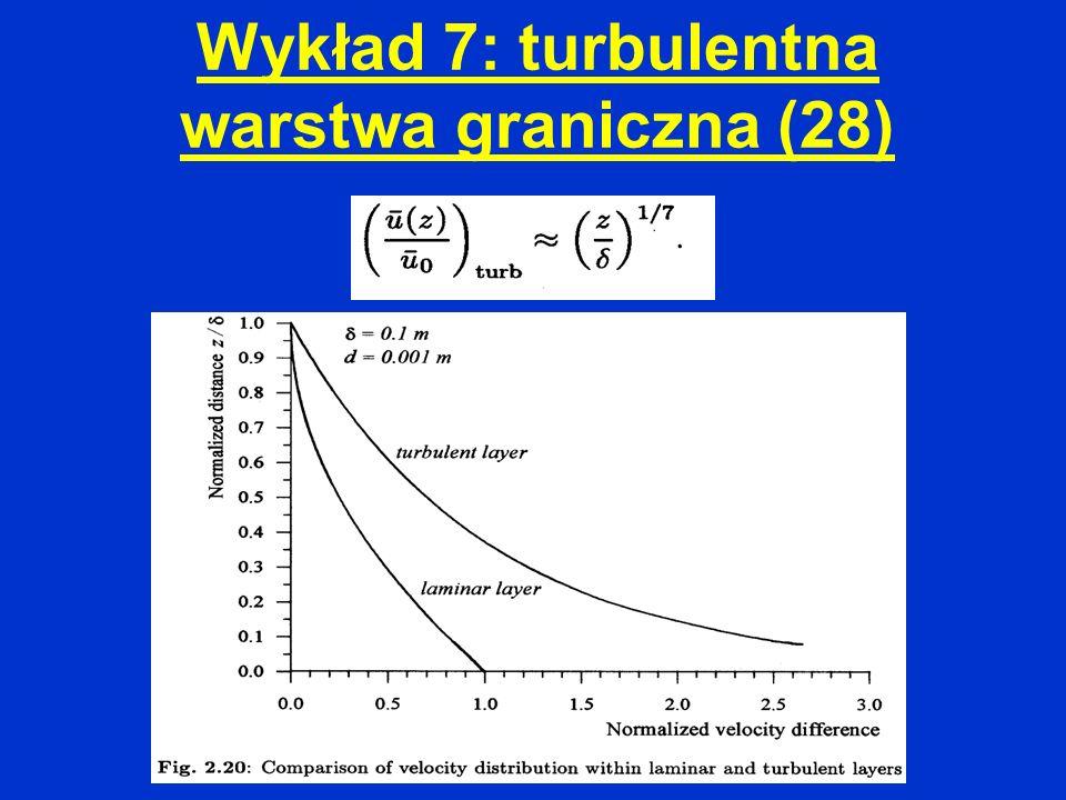 Wykład 7: turbulentna warstwa graniczna (28)