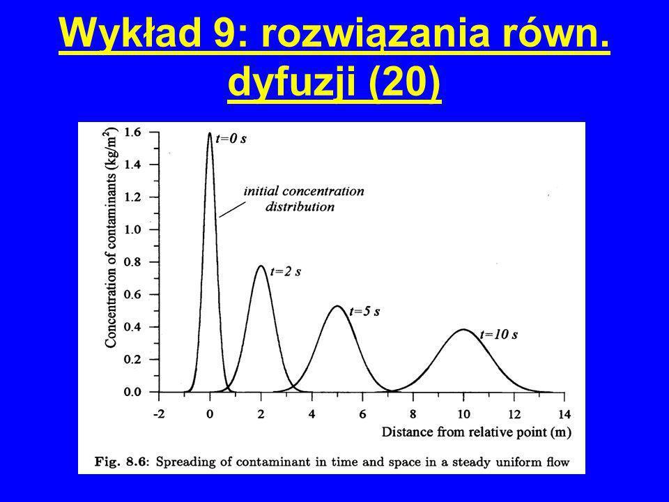 Wykład 9: rozwiązania równ. dyfuzji (20)