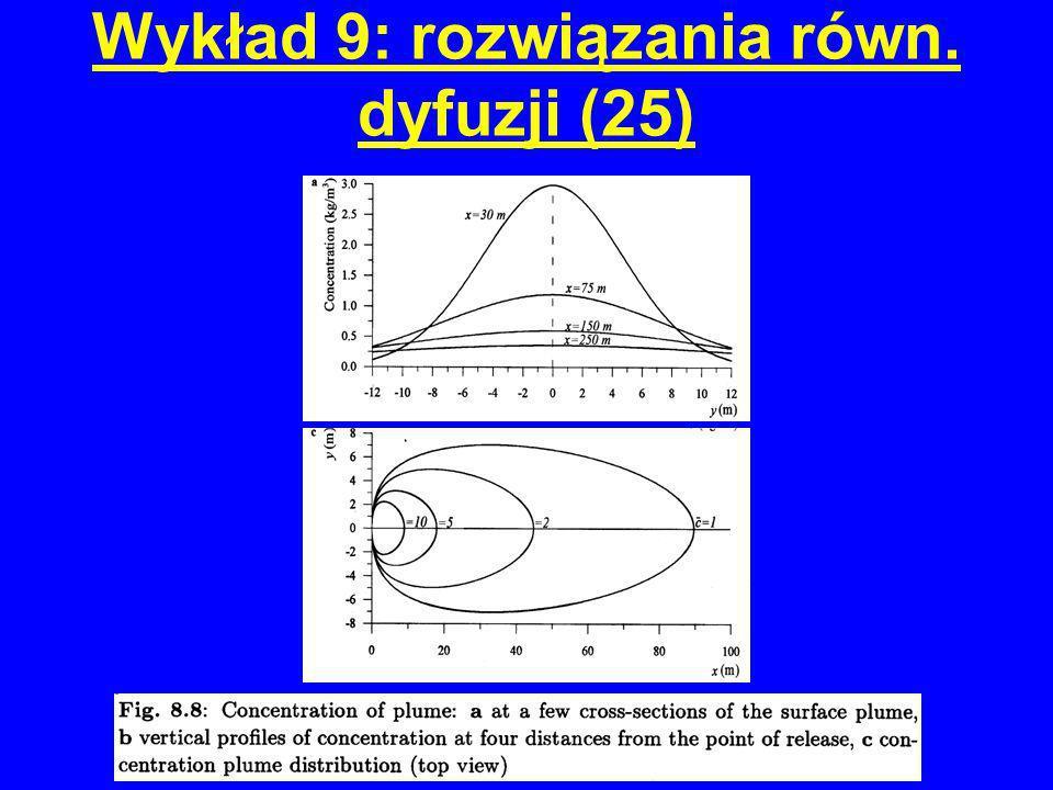 Wykład 9: rozwiązania równ. dyfuzji (25)