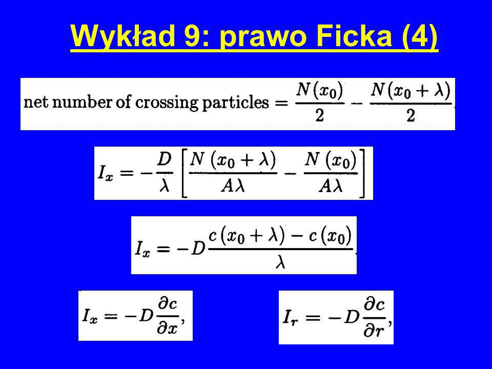 Wykład 9: prawo Ficka (4)