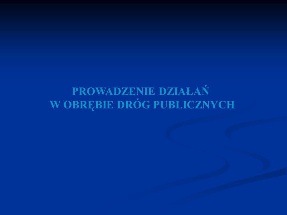 PROWADZENIE DZIAŁAŃ W OBRĘBIE DRÓG PUBLICZNYCH