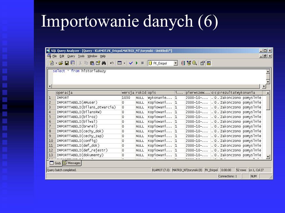 Importowanie danych (6)
