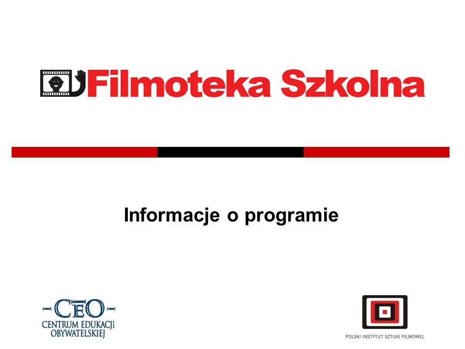 Filmoteka Szkolna to program wprowadzający elementy edukacji filmoznawczej do szkół ponadpodstawowych.