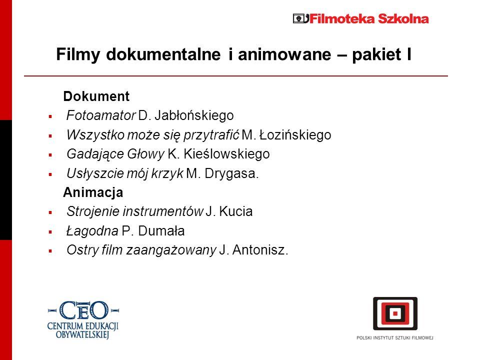 Filmy z pakietu II Fabuła Wojaczek reż.Lech Majewski Czerwone i czarne reż.