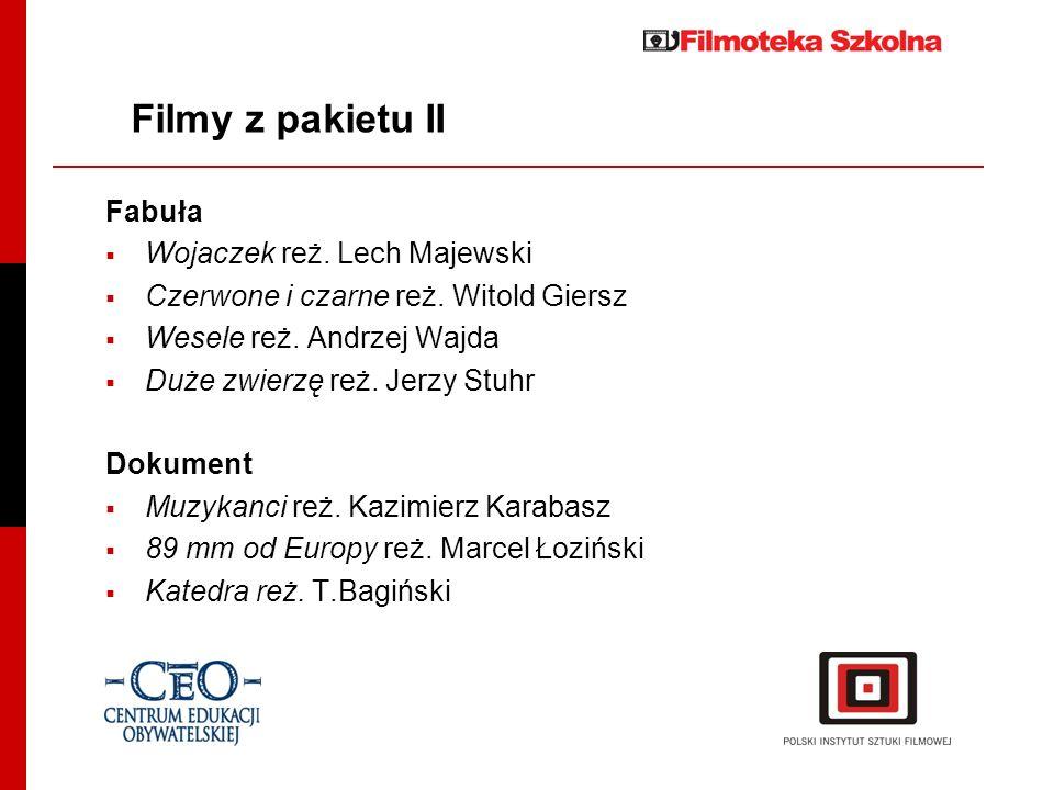 Ogólnopolski Konkurs Wiedzy o Filmie Gdańskie Centrum Filmowe Impreza odbywająca się raz do roku, promująca zdobywanie wiedzy o filmie jako jednej z ważnych dziedzin edukacji.
