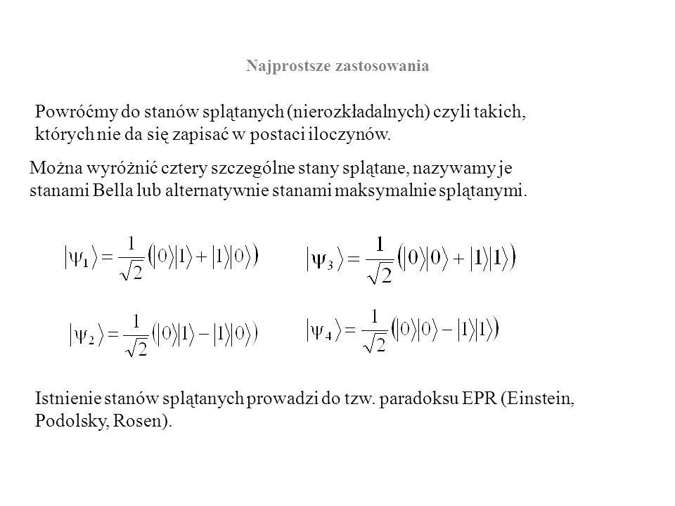 Paradoks EPR Załóżmy, że mamy układ dwóch elektronów w podwójnej studni potencjału, lub w dwóch studniach oddalonych od siebie.