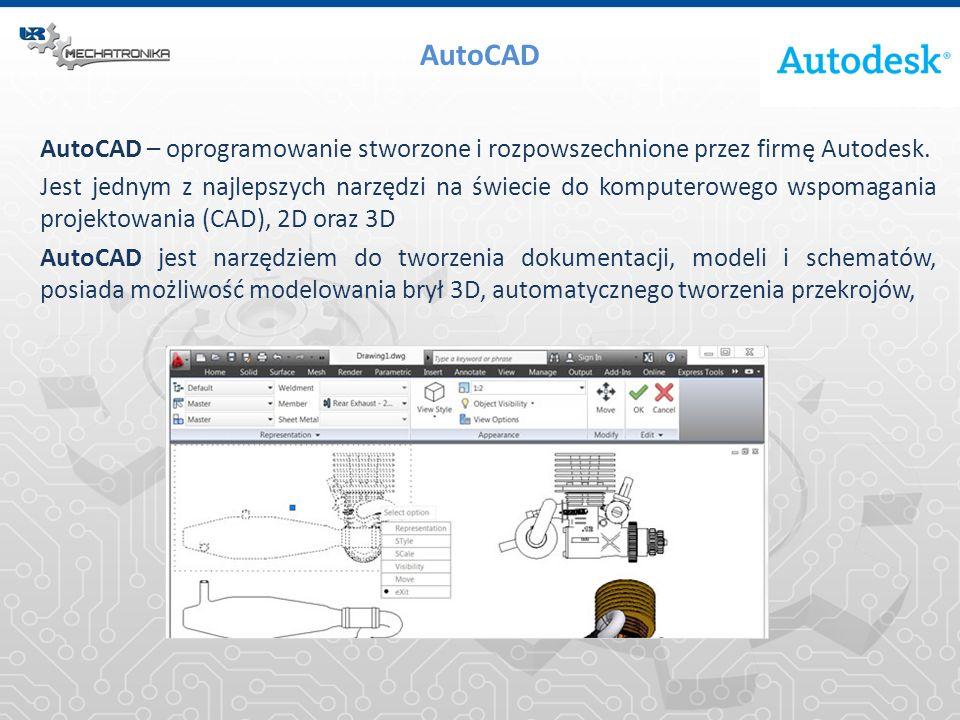 AutoCAD – oprogramowanie stworzone i rozpowszechnione przez firmę Autodesk. Jest jednym z najlepszych narzędzi na świecie do komputerowego wspomagania