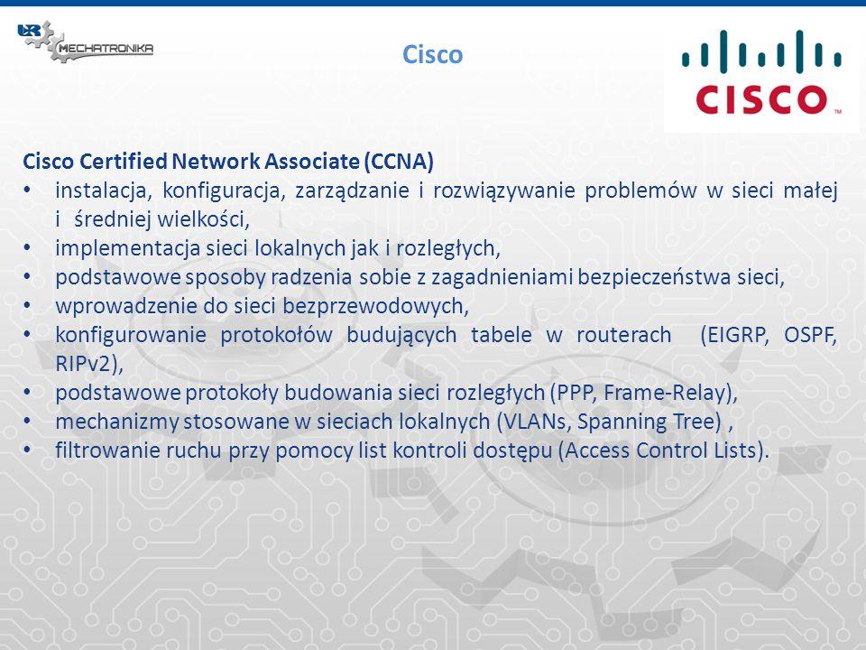 Cisco Cisco Certified Network Associate (CCNA) instalacja, konfiguracja, zarządzanie i rozwiązywanie problemów w sieci małej i średniej wielkości, imp