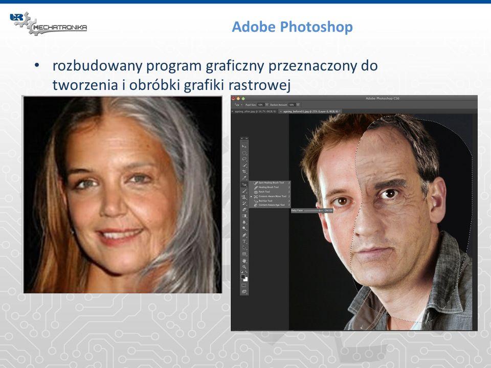 Adobe Photoshop rozbudowany program graficzny przeznaczony do tworzenia i obróbki grafiki rastrowej