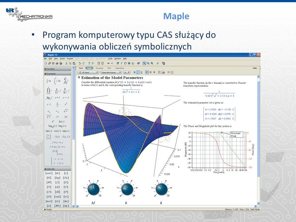 Maple Program komputerowy typu CAS służący do wykonywania obliczeń symbolicznych