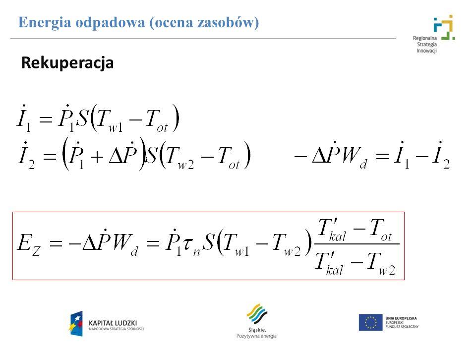 Rekuperacja Energia odpadowa (ocena zasobów)