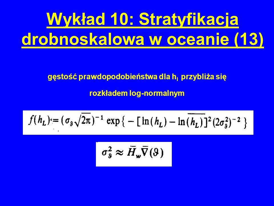 gęstość prawdopodobieństwa dla h l przybliża się rozkładem log-normalnym