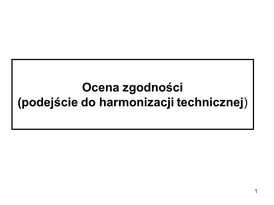1 Ocena zgodności (podejście do harmonizacji technicznej)