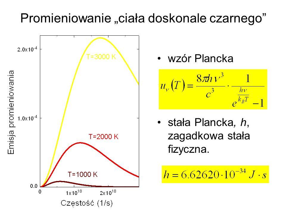 Efekt fotoelektryczny światło jest falą elektromagnetyczną (Maxwell), ale wykazuje pewne własności korpuskularne (wiatrak świetlny pęd).