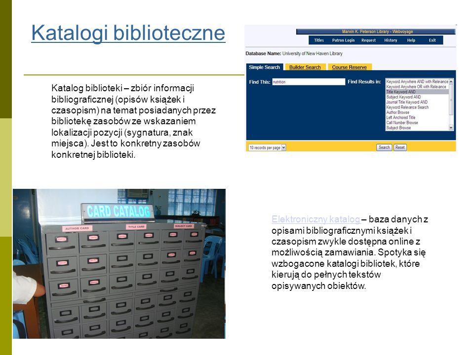 Bibliografie Bibliografia – uporządkowany wykaz, spis piśmiennictwa, zestawienie opisów bibliograficznych (czasem z adnotacjami, streszczeniami) książek, czasopism, artykułów i innych mediów zwykle bez informacji o lokalizacji, nie przypisany do konkretnej instytucji.