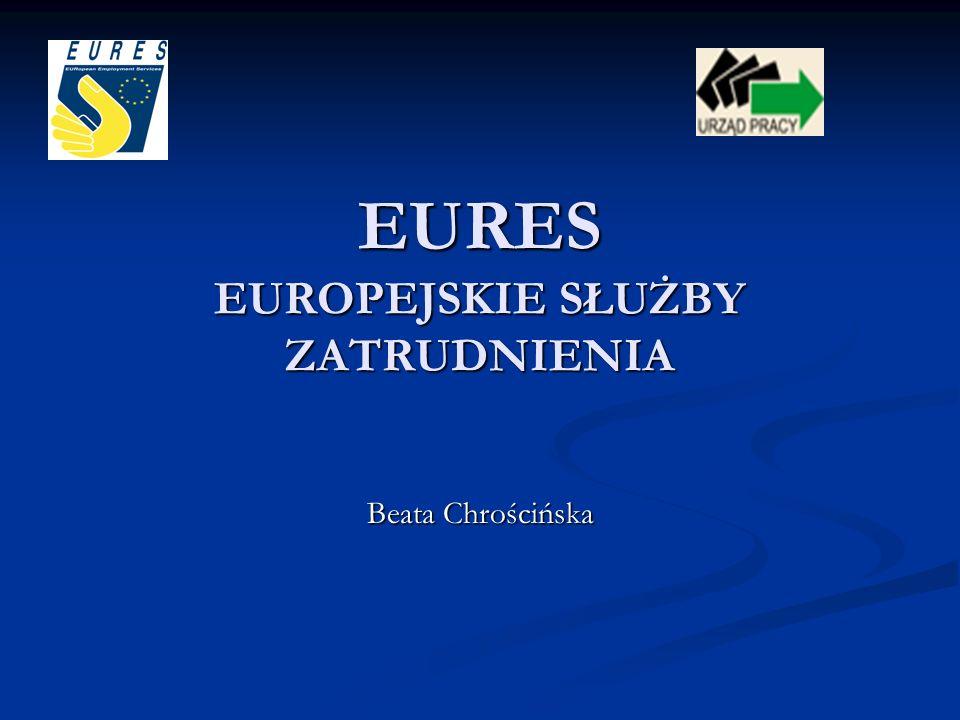Misja i cele EURES Sieć EURES nastawiona jest na informowanie, doradztwo i wspomaganie: poszukujących pracy z EOG, którzy chcą pracować w innym kraju członkowskim, poszukujących pracy z EOG, którzy chcą pracować w innym kraju członkowskim, pracodawców, którzy chcą rekrutować pracowników z innych krajów członkowskich.