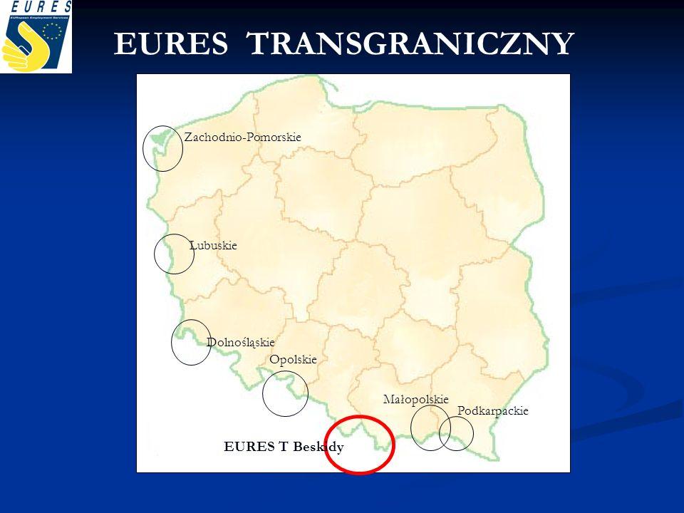 Zachodnio-Pomorskie Lubuskie Dolnośląskie Opolskie EURES T Beskidy Małopolskie Podkarpackie EURES TRANSGRANICZNY
