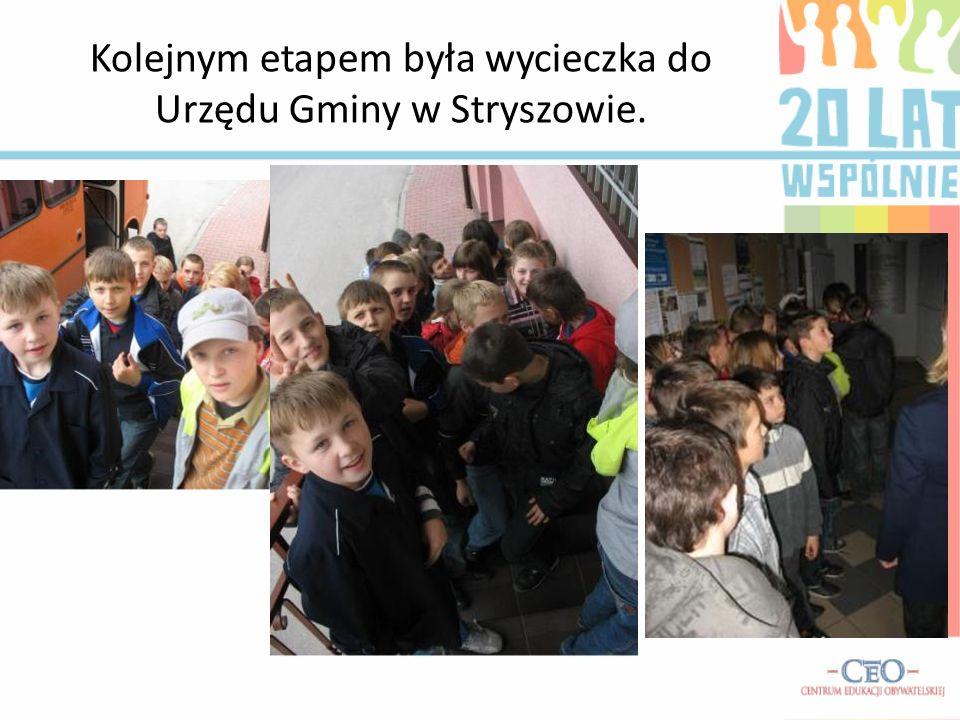 Kolejnym etapem była wycieczka do Urzędu Gminy w Stryszowie.