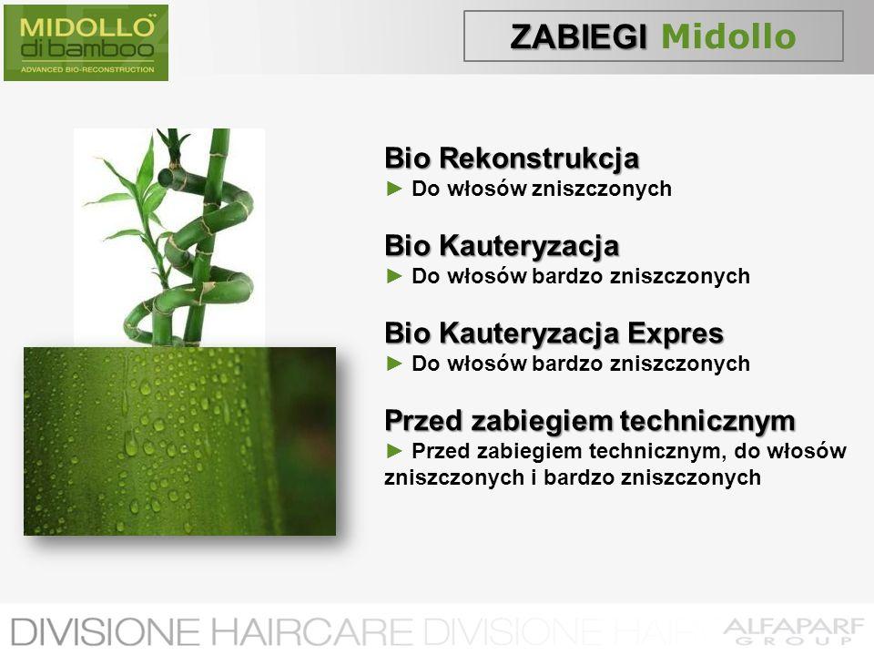 ZABIEGI ZABIEGI Midollo Bio Rekonstrukcja Do włosów zniszczonych Bio Kauteryzacja Do włosów bardzo zniszczonych Bio Kauteryzacja Expres Do włosów bard