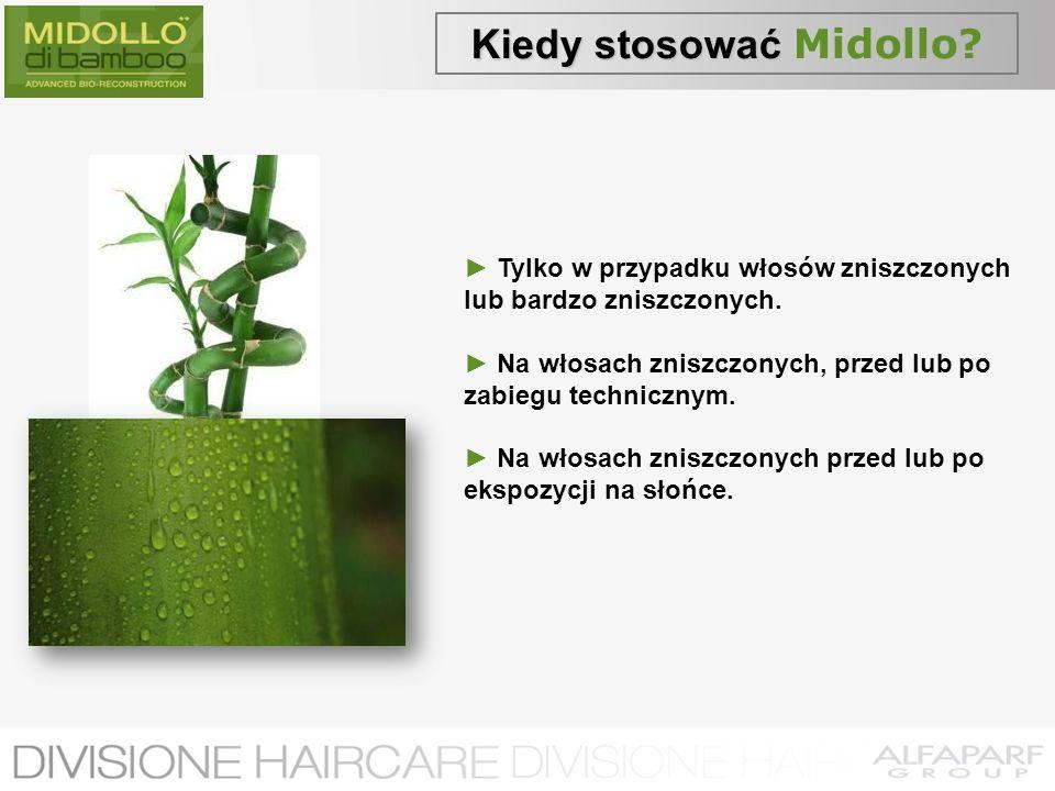 Kiedy stosować Kiedy stosować Midollo? Tylko w przypadku włosów zniszczonych lub bardzo zniszczonych. Na włosach zniszczonych, przed lub po zabiegu te