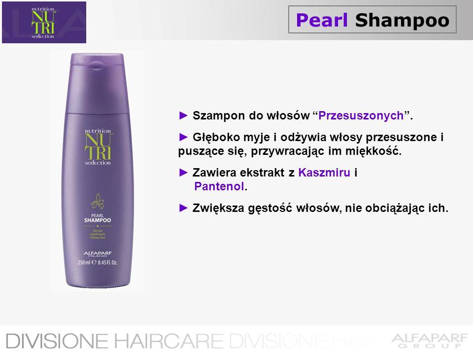 Pearl Shampoo Szampon do włosów Przesuszonych. Głęboko myje i odżywia włosy przesuszone i puszące się, przywracając im miękkość. Zawiera ekstrakt z Ka