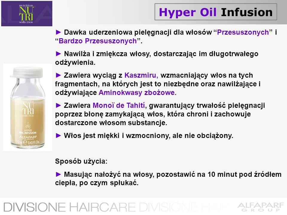 Hyper Oil Infusion Dawka uderzeniowa pielęgnacji dla włosów Przesuszonych iBardzo Przesuszonych. Nawilża i zmiękcza włosy, dostarczając im długotrwałe