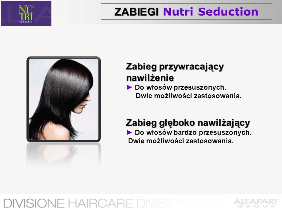 ZABIEGI ZABIEGI Nutri Seduction Zabieg przywracający nawilżenie Do włosów przesuszonych. Dwie możliwości zastosowania. Zabieg głęboko nawilżający Do w